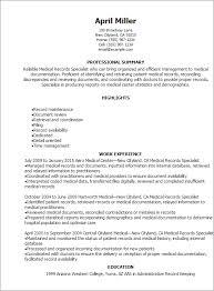 Billing Clerk Resume Sample by Download Medical Records Resume Haadyaooverbayresort Com