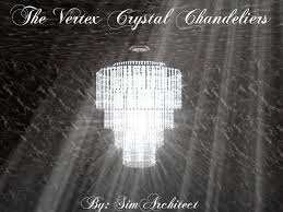 Long Hanging Chandeliers Mod The Sims The Vertex Crystal Chandeliers