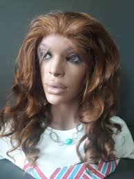 hair highlighted in front isabelle yaki straight synthetic lace front wig 14 color 4 27