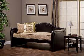 Leather Daybed With Trundle Furniture Cozy Trundle Day Bed For Your Relax Time U2014 Cafe1905 Com