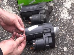 starter replacement removal and refitting step by step youtube