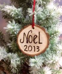 our new home christmas ornament engraved wood slice ornament