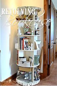 Danner Revolving Bookcase Shelves Diy Rotating Bookshelf Tower Style 48 Bookcases Hemnes