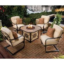 Firepits Gas Premium Memorial 5 Porcelain Octagon Gas Firepit Table Chat