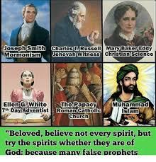 Joseph Smith Meme - joseph smith charles t russell mary baker eddy mormonism jehovah