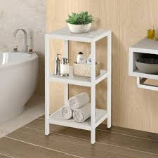 ideas for bathroom shelves modern plain grey wallpaper dark brown