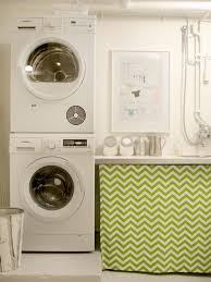 clean inspiring basement laundry room after makeover design with