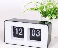 amazon com erasky modern retro auto flip clock desk table file