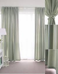 Embroidered Linen Curtains Curtains Sage Green Plaid Check Print Linen Cotton
