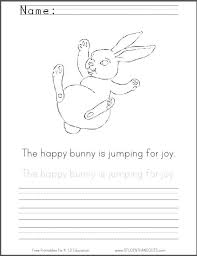 free printable bouncing bunny coloring sheet easter student