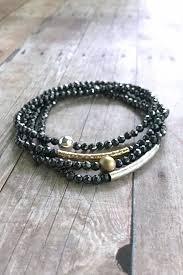 diy bracelet stones images Hematite jewelry in black color home design studio jpg