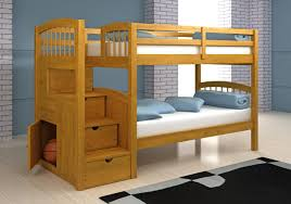 Twin Loft Bed With Stairs Wood Twin Over Twin Bunk Beds With Stairs Attractive Twin Over