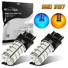 3157 switchback amber front turn signal light blue drl 60 epistar