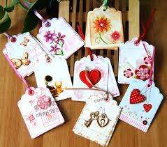 9pcs set small flower greeting card with envelope for