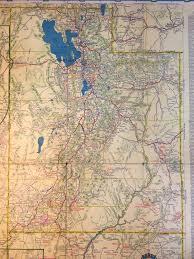 Arizona Road Map 1936 Road Map Of Utah Saltlakecity