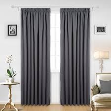 gardinen im schlafzimmer de deconovo vorhang blickdicht kräuselband gardinen