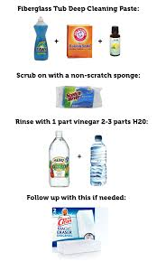 How To Clean Bathtub With Vinegar How To Clean A Fiberglass Bathtub Smart Ideas Pinterest