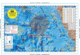 Map Southern California San Diego Offshore Banks Baja Directions