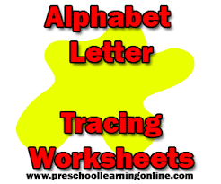 alphabet letter tracing worksheets preschool learning online