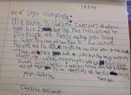 7 year old writes lego about lack of toys for girls ny daily news