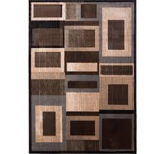 Brown Area Rugs Home Dynamix Bazaar Gal Black Brown 5 Ft 2 In X 7 Ft 2 In