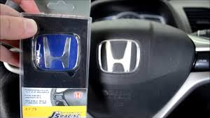 honda jdm logo blue jdm steering wheel emblem install youtube