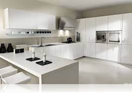 Modernist Kitchen Design by Very Contemporary White Kitchen Designs