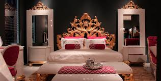 double bed new baroque design wooden crown jetclass real