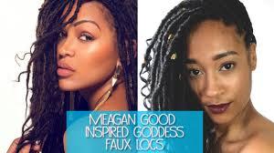 best hair for faux locs meagan good goddess faux locs youtube