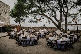 rustic wedding venues island this fort george croatia wedding is where rustic meets chic