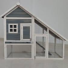 Rabbit Hutch With Detachable Run Double Decker With Run Rabbit Hutch Hutches Guinea Pig House Home