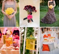 Color Combinations With Orange by Cinnamon Citrus Signature Drink Orange Yellow Wedding Reception
