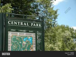 Map Central Park Central Park Sign Map New York In Summer Stock Photo U0026 Stock