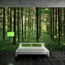 wandtapete schlafzimmer fototapete wald wunderschönes design vom schlafzimmer