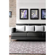 muconda lattice taupe grey trellis contemporary patterned rug