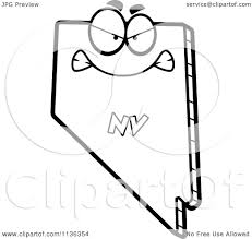 nevada state flag coloring page cartoon clipart of an outlined mad nevada state character black