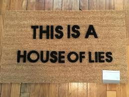 funny doormat with