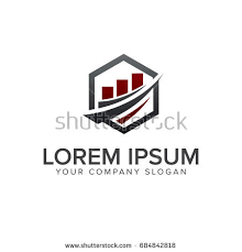 architectural construction real estate mortgage logo stock vector