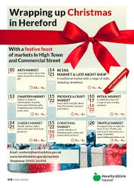christmas markets in hereford eat sleep live herefordshire