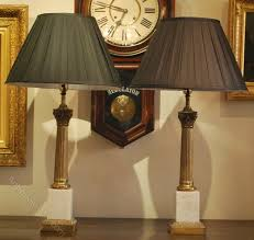 antiques atlas pair of brass u0026 marble column table lamps