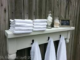 sumptuous wooden bathroom towel rack shelf wood shelves for