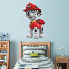 paw patrol marshall decal removable wall sticker home decor art