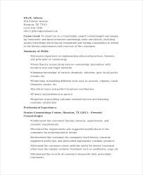 cosmetologist resume template 6 cosmetology resume templates pdf doc free premium templates