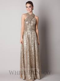 gold sequins bridesmaid dress 2016 sparkly convertiable a line