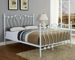 bedrooms double bed triton white 4ft6 double metal bed frame