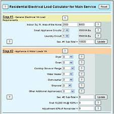 electrical load calculations for residential panel online load