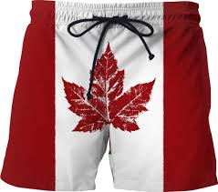 shorts cool canada flag swim trunks souvenir shorts