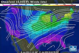 winds aloft map relative velocity and vectors data
