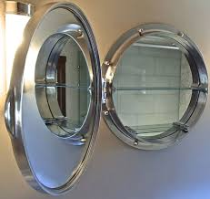 porthole mirrored medicine cabinet porthole mirror cabinet home designs insight round porthole