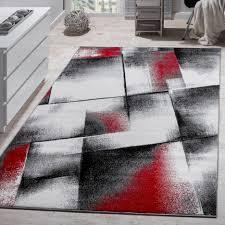 Wohnzimmer Teppiche Modern Innenarchitektur Tolles Wohnzimmer Rot Grau Designer Teppich